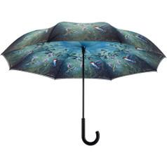 """Galleria 48"""" Reverse Stick Umbrella, Humming Birds"""