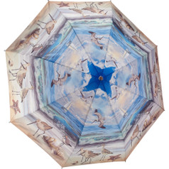 "Galleria Folding 48"" Umbrella, Beach Scene"