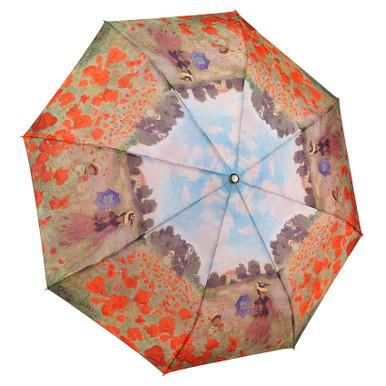"Galleria Folding 48"" Umbrella, Monet's Poppy Field"