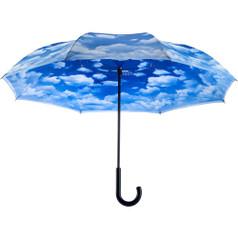 "Galleria 48"" Reverse Stick Umbrella, Clouds"