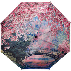"Galleria Folding 48"" Umbrella, Cherry Blossoms"
