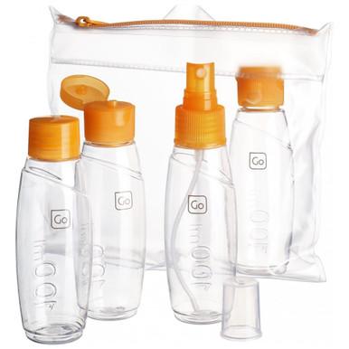 Go Travel Cabin Bottles Set - Orange