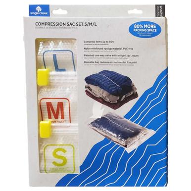 Eagle Creek Pack-It Compression Sac Set, S/M/L - Clear S/F/B