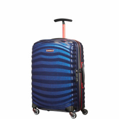 Samsonite Lite-Shock Sport Spinner Carry-On - Nautical Blue/Red