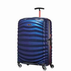 Samsonite Lite-Shock Sport Spinner Medium - Nautical Blue/Red