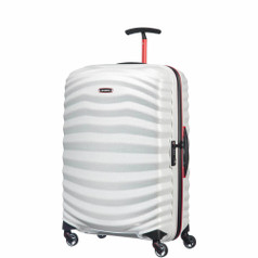 Samsonite Lite-Shock Sport Spinner Medium - Off White/Red