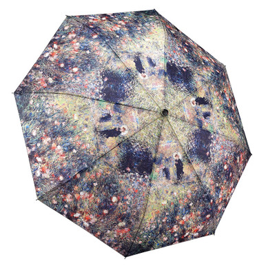 """Galleria Folding 48"""" Umbrella, Renoir's Woman with a Parasol in a Garden"""