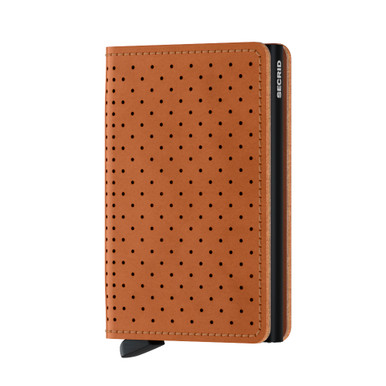 Secrid Slimwallet, Perforated - Cognac
