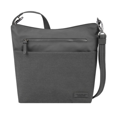Travelon Anti-Theft Metro Medium Crossbody - Gray Heather