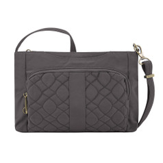 Travelon Anti-Theft Signature Quilted E/W Slim Bag - Smoke