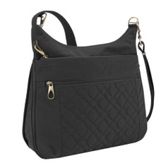 Travelon Anti-Theft Signature Quilted Expansion Crossbody - Black