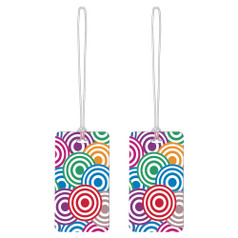 Go Travel Tag Me Patterned Luggage Tags (2-Pack) - Circles