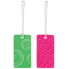 Lewis N Clark Luggage Tag Set, Green/Pink
