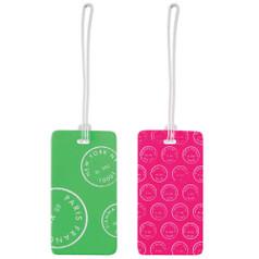 Lewis N Clark Luggage Tag Set, Green/Pink