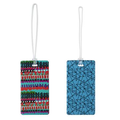 Lewis N Clark Luggage Tag Set, Tribal/Lines