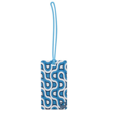 Lewis N Clark Luggage Tag, Blue Retro