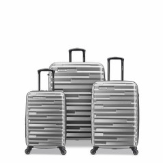 Samsonite Ziplite 4.0 - 3 Piece Set Silver Oxide