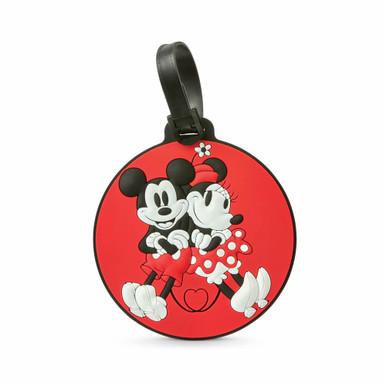 American Tourister Disney ID Tag - Mickey/Minnie Kiss