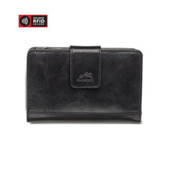 Mancini Bridge - Ladies' Secure Medium Clutch Wallet (RFID) -Black