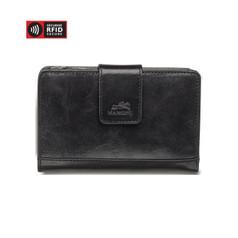 Mancini Bridge - Ladies' Secure Medium Clutch Wallet (RFID) -Black