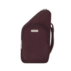 Travelon Anti-Theft Essentials Mini Asymmetric Crossbody - Dark Burgundy