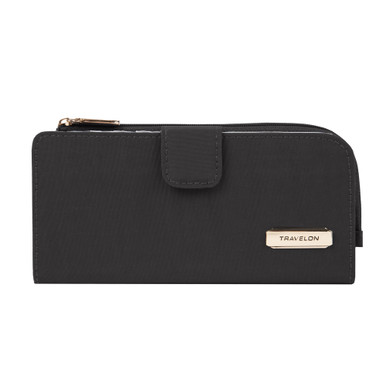 Travelon Slim Zip Wallet - Black