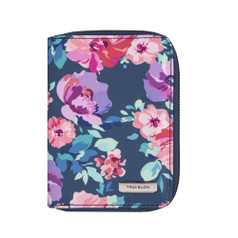Travelon RFID Blocking Passport Zip Wallet - Blossom Floral