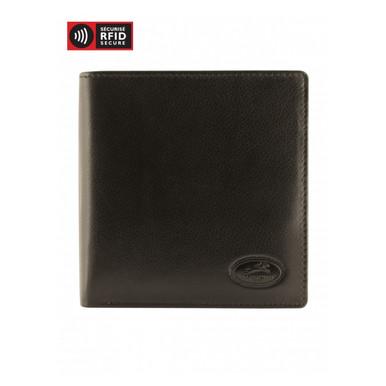 Mancini Manchester Men's Hipster Wallet - Black