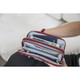 Travelon RFID Blocking Double Zip Wallet - Garnet