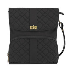 Travelon Anti-Theft Signature Quilted Messenger Bag - Black