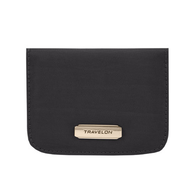 Travelon RFID Blocking Bifold Card Case - Black