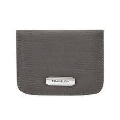 Travelon RFID Blocking Bifold Card Case - Smoke