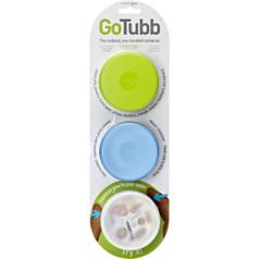 Medium GoTubb 3-Pack (Clear, Blue, Green)