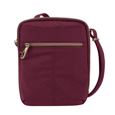 Travelon Anti-Theft Signature Slim Day Bag - Ruby