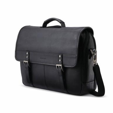"""Samsonite Classic Leather Flapover Brief (15.6"""") - Black"""