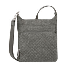 Travelon Anti-Theft Boho N/S Crossbody - Gray Heather