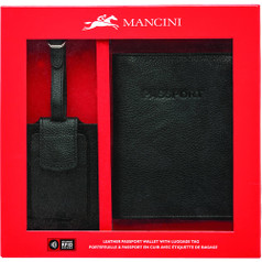 Mancini Leather Gift Set - Black