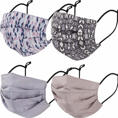 Adult 4-Piece combo face mask pack
