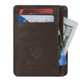 Travelon Safe ID Leather Cash and Card Sleeve - Brown