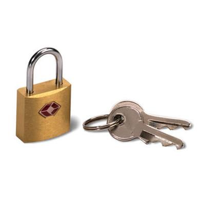 Lewis N Clark TSA Keylock - Mini Padlock, Brass Square