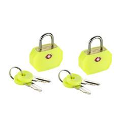 Lewis N Clark TSA Keylock - Mini Padlock (2 Pack) Style - Yellow