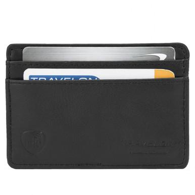 Travelon Safe ID Leather Card Sleeve - Black