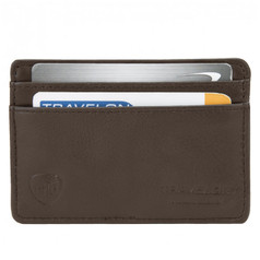 Travelon Safe ID Leather Card Sleeve - Brown