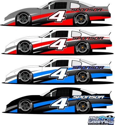 Race Car Side Wrap 4 Late Model, Super Stock, Street Stock, Mini Stock