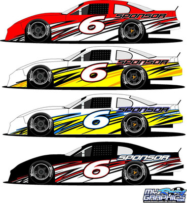 Side Wrap Graphic 6 Late Model, Sportsman, Mini Stock, Super Stock