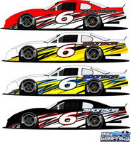 Side Wrap Graphic 6 Late Model, Sportsman, Mini Stock, Super Stock