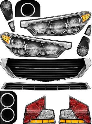 Headlight and Tailight decal kit