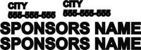 Race Car sponsor vinyl decals economy package