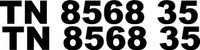 Boat Registration Decal numbers