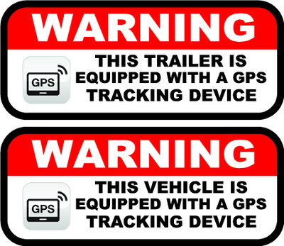 Car Tracking Device >> Vehicle Equipped with GPS tracking device decal | Great for Race Car Trailers | Sticker | Security
